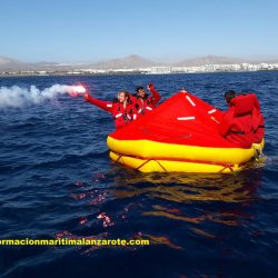 Supervivencia, en Academia Nautica Lanzarote.